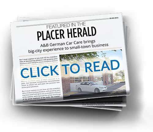 A&B German Auto Care Featured in the Placer Herald